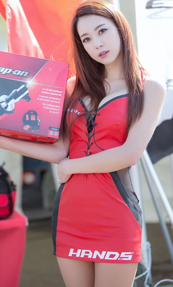 Race Queen Ju Da Ha | Asian Car Model 7