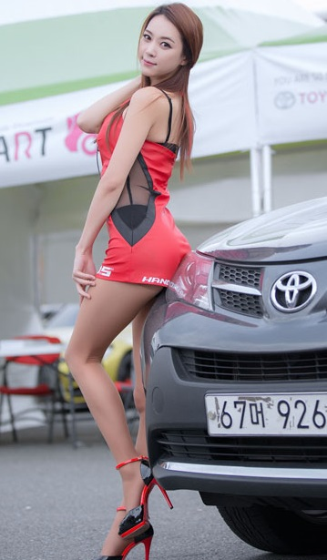 Race Queen Ju Da Ha | Asian Car Model 5