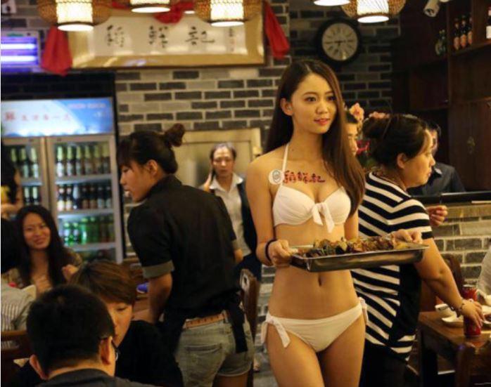 Banging a hot Chinese Waitress asian porn story